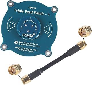 Crazepony-UK Lantian Pagode Pro 5.8G FPV antennepaneel, 9,4 dBi High Gain TX RP-SMA vrouwelijk en SMA-stekker voor FPV Rac...