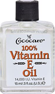 Cococare Vitamin E Oil - 14000 IU - Antioxidant - Repair Skin - 0.5 fl oz (Pack of 2)