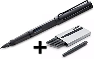 Lamy Safari Fountain Pen (17F) Umber + 5 Black Ink Cartridges (1203886)