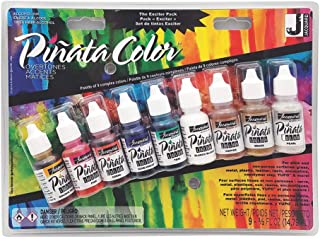 Piñata Alcohol Ink Exciter Pack by Jacquard, Overtones, Includes 9 Colors, 1/2 Ounce Bottles (JAC9918)