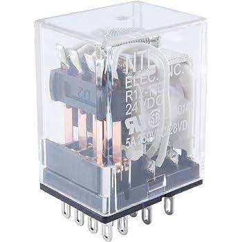 10 Amp NTE Electronics R10-5A10-24 Series R10 General Purpose AC Relay 24 VAC Inc. SPDT-NO Contact Arrangement