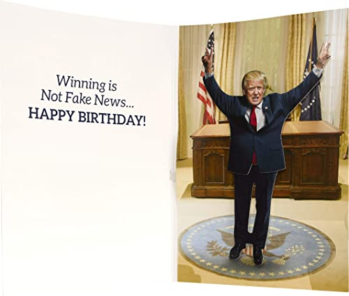 Dancing Donald MOTION & SOUND Birthday Card – Donald Trump Dances in Celebration When Card is Opened – Includes 20 se...