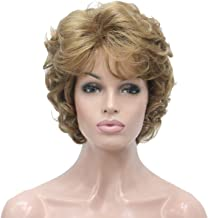 Lydell Women's Short Curly Wavy Wig Synthetic Hair Full Wig 6 inches (#19 Light Strawberry Blonde)