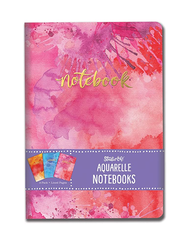 Studio Oh! Notebook Trio with Three Coordinating Designs Available in 12 Bundles, Aquarelle