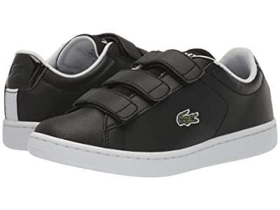 Lacoste Kids Carnaby Evo Strap 120 1 SUJ (Little Kid/Big Kid) (Black/White) Kid