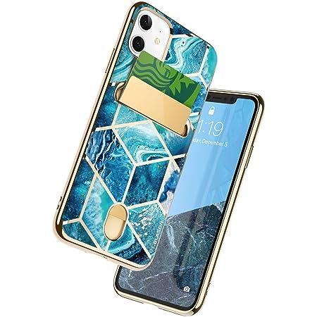 "i-Blason Cosmo Wallet Slim Designer Wallet Case for Apple iPhone 11 (2019), 6.1"" (Blue)"