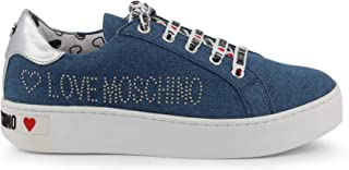 Love Moschino Cassetta 35 Denim Blu Scarpe Donna Sneakers Nuove