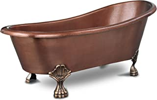 Sinkology TBT-6631CL Heisenberg Handmade Pure Solid Freestanding Claw Foot Bath Tub, 5.5', Antique Copper
