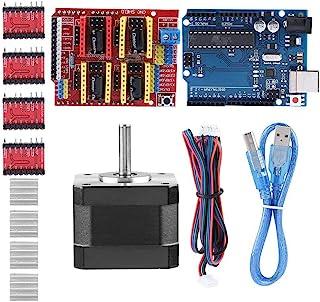 Arduino Kit Controller Scudo CNC per Stampante 3D Scudo CNC V3.0 Motore Passo-Passo Nema 17 Dispositivo di Raffreddamento Uno R3 Driver Motore Passo-Passo A4988