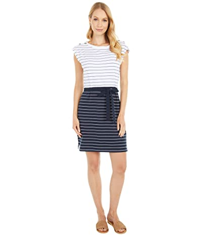 Tommy Hilfiger Adaptive Millicent Striped Dress (Masters Navy/Bright White) Women
