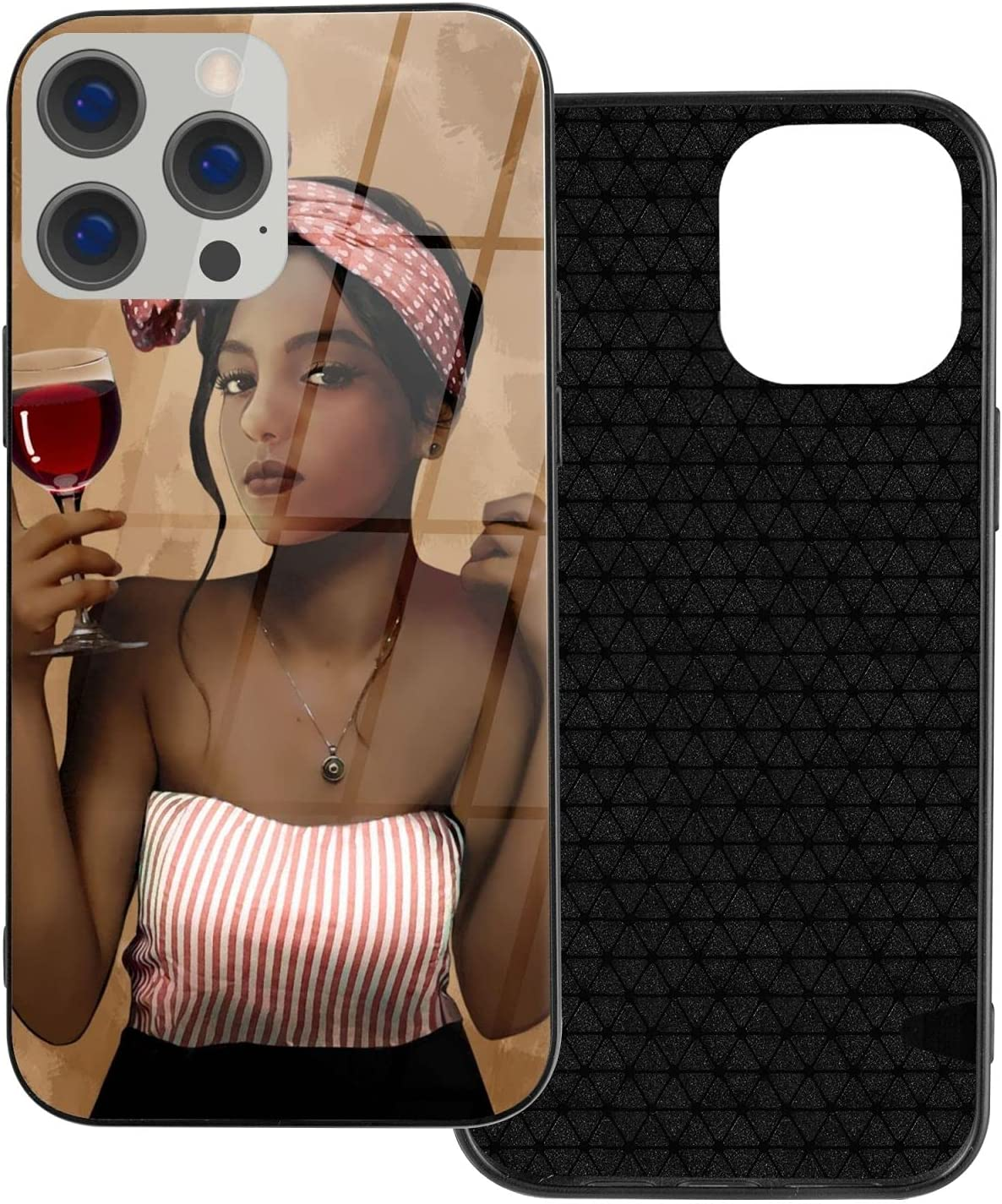 EZYES Case for iPhone 6/6S American African Woman Phone Case Afro Girl Design Anti-Drop Shock Phone Cover Slim Fit Full Protection TPU Tempared Glass Phone Case