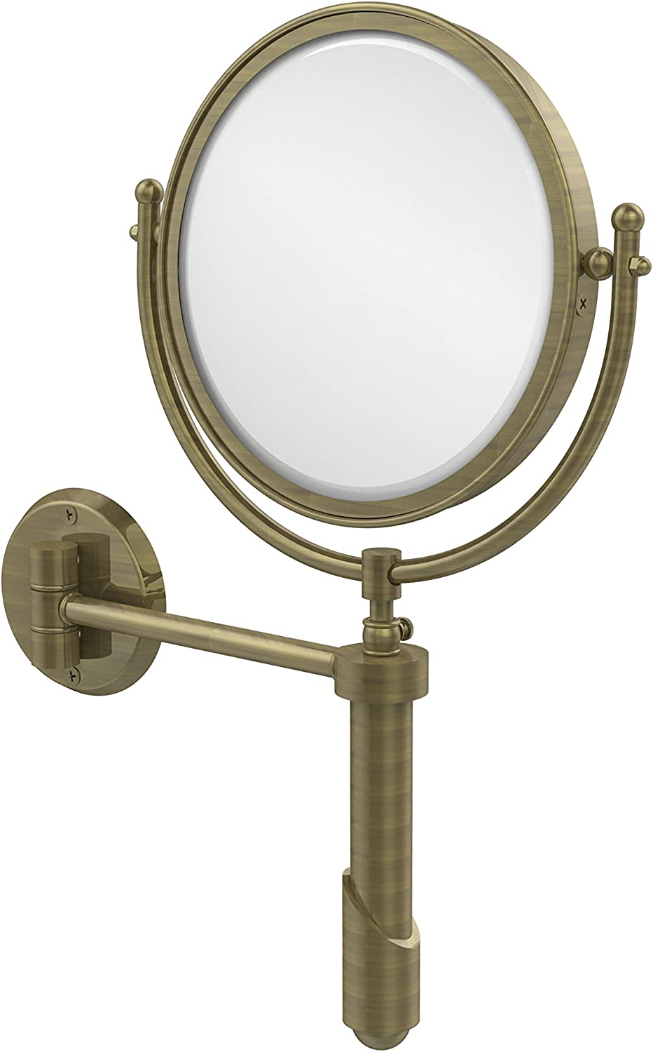 Allied Brass Soho Collection Wall Mounted Make-Up Mirror 8 Inch Diameter with 3X Magnification, SHM-8 3X-ABR