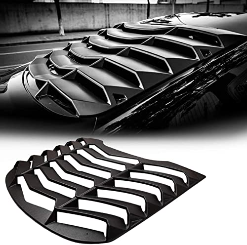 CUMART Rear Window Louvers Windshield Sun Shade Cover Lambo Style Matte Black Compatible with Ford Mustang 2015 2016 ...