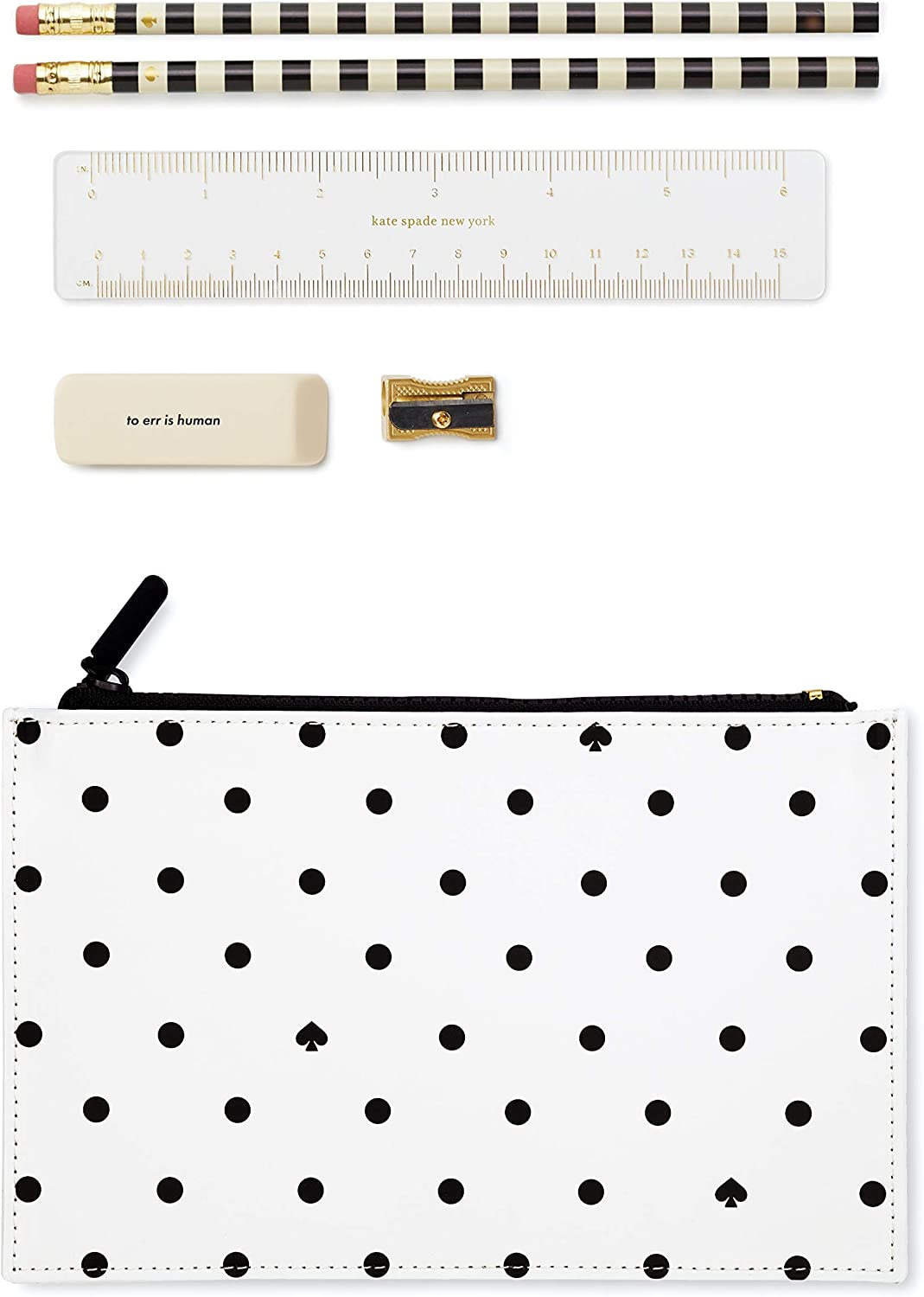 Kate Deluxe Spade New York Pencil Sharpener Including Pouch El Paso Mall Pencils 2