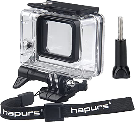 Hapurs Diving Waterproof Housing Protective Case Cover Accessories for GoPro Hero 7 Black, GoPro Hero 6 Black, GoPro Hero 5 Black,New GoPro Hero Sport Cameras Only