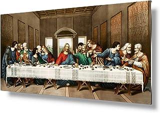 "VickyArt -Leonardo da Vinci The Last Supper. Metal Artwork For Christian Wall Decor.24×12"""