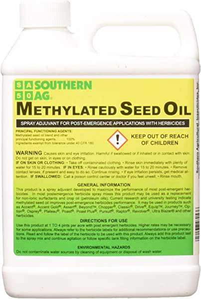 Southern Ag Methylated Seed Oil MSO Surfactant 32oz 1 Quart