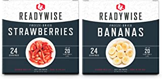 ReadyWise Freeze-Dried Fruit Box Kit | Emergency Food | 48 Servings