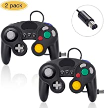 Gamecube Controller for Nintendo Switch, 2 Pack Wired Classic Game Cube NGC Controllers Compatible with Wii U, for use with Ultimate Super Smash Bros