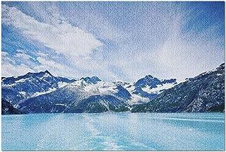 HDグレイシャーベイ国立公園アラスカ-ブルーウォーター&マウンテンズ9010963(19x27大人用プレミアム1000ピースジグソーパズル)