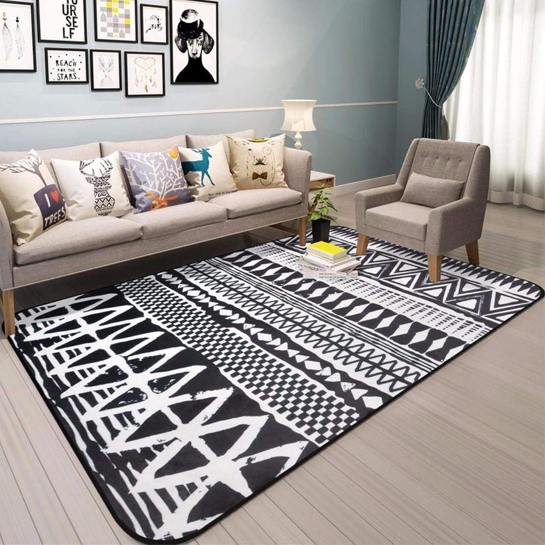 くさびブロー雇うPaioupaiou 現代の家庭用カーペット、リビングルームのカーペットルーム、カーペットサイドカーペット、ソファーカーペット、ロビーカーペット、 ソフトカーペット (Color : ブラック)