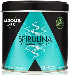 Espirulina Ecológica Premium para 9 Meses | 600 comprimidos de 500mg con 99% BIO Spirulina | Vegano - Saciante - DETOX - P...