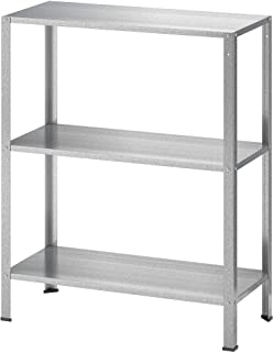 3 Tier Steel Shelving Unit Bathroom Kitchen Garden Storage Shelve Silver