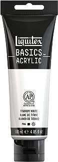 Liquitex Basics - Pintura acrílica studio, tubo 118 ml, color blanco titanio