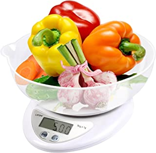 Digital Food Scale, LATOW Food Kitchen Scale Digital Cooking Weight Scale Food Scale Bowl with