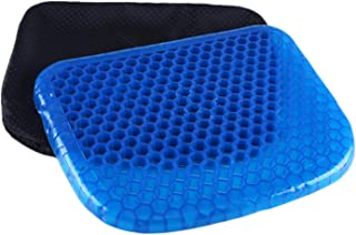 AWEFRANK Gel Seat Cushion Breathable with Non-Slip Cover for Pain Relief, Pressure Relief Honeycomb Chair Cushion for Office Chair Car Wheelchair