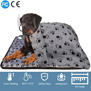 Pet Heat Pad Set for Dogs Cats Warm Blanket Pet Electric Heating Dogs and Cats Indoor Warming Mat Waterproof Chew Resistant