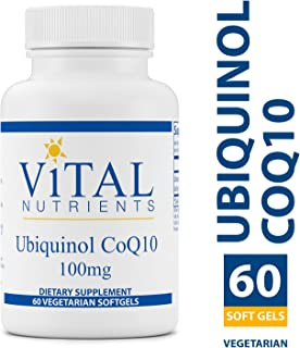 Vital Nutrients - Ubiquinol CoQ10 100 mg - Activated Form of Coenzyme Q10 - 60 Softgels per Bottle