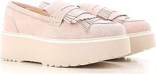 Hogan Luxury Fashion Womens HXW3550AF10CR0M413 Pink Loafers | Season Permanent