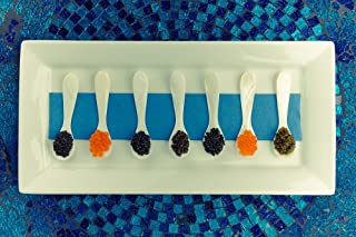 LIMITED TIME OFFER! SASANIAN Caviar Connoiseur SAMPLER 7 x 20g ea Imperial Osetra, Royal Osetra, Siberian Baerii, White Sturgeon, Salmon Roe, Trout Roe