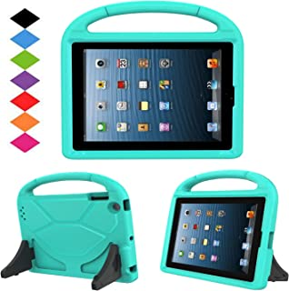 Kids Case for iPad 2 3 4 - TIRIN Shock Proof Convertible Handle Light Weight Durable Super Protective Stand Cover for iPad 4, iPad 3 & iPad 2 2nd 3rd 4th Generation Tablet,Turquoise