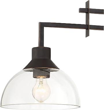 "Metro Polished Bronze Linear Pendant Chandelier Lighting 32"" Wide Modern Contemporary Geometric Clear Glass 3-Light Fixture f"