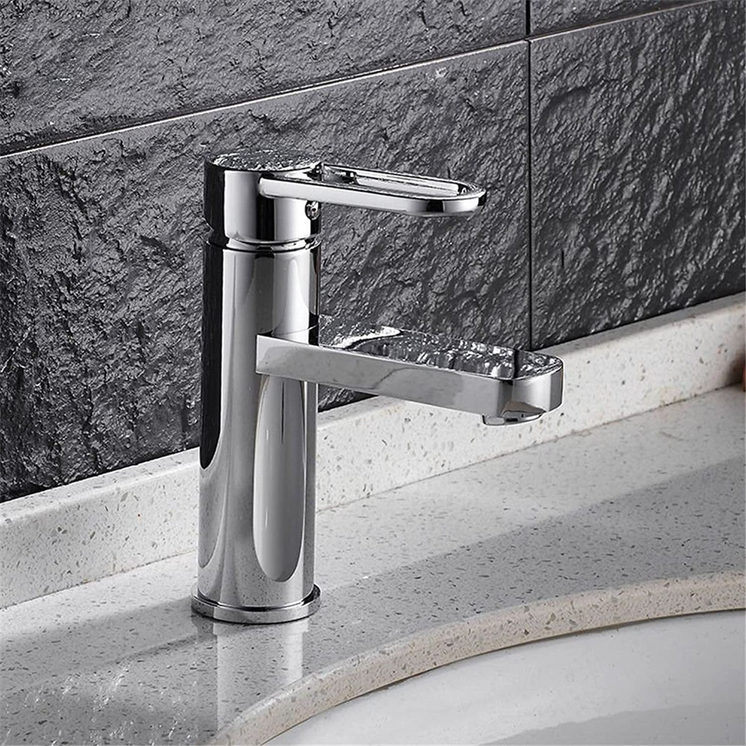 ETERNAL QUALITY Bathroom Sink Basin Tap Brass Mixer Tap Washroom Mixer Faucet Copper minimalist bathroom faucet back-up hot and cold-water faucet basin mixer a Kitchen Si
