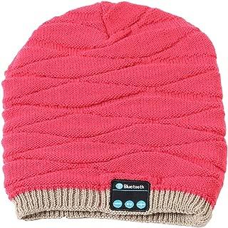 GLJJQMY Stylish Wireless Bluetooth Headset Cap Cold Warm Stereo Bluetooth Earphone (Color : RED)