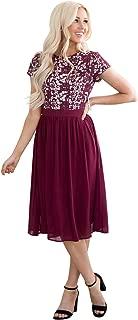 Jen Olivia Lace & Chiffon Modest Dress, Modest Semi-Formal Dress, Prom or Bridesmaid Dress