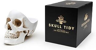 SUCK UK Skull Stuff Tidy スカル スタッフ タイディ 小物入れ アクセサリー入れ ジュエリーケース インテリア (White)