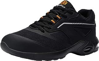 DYKHMILY Chaussure de Securite Hommes Legere Coussin Chaussures de Travail Embout Acier Respirant Basket de Securite