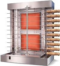 Bioexcel Tacos Al Pastor Doner Kebab Shawarma Gas Burner Grill - Vertical Broiler - Automatic 2 Burners Machine with 10 Si...