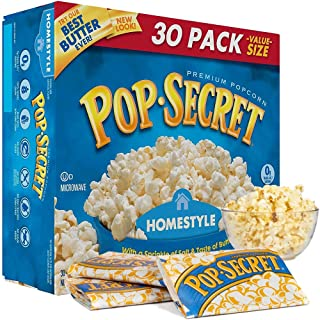 Pop Secret Homestyle Premium Microwave Popcorn 30 Pack Value Box