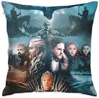 Leping Game of Thrones Throw Pillow Cases Home Decorative Square Cushion Pillow Cover for Couch Bed Sofa with Hidden Zipper 18