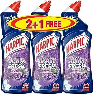 Harpic Toilet Cleaner Liquid Active Fresh Lavender, 750ml, Pack of 3