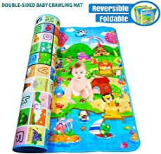 Wazdorf Double Side Waterproof, Anti Skid Baby Crawling Play Floor Mat for Kids (Large, 120 x 180 cm, Multicolour)