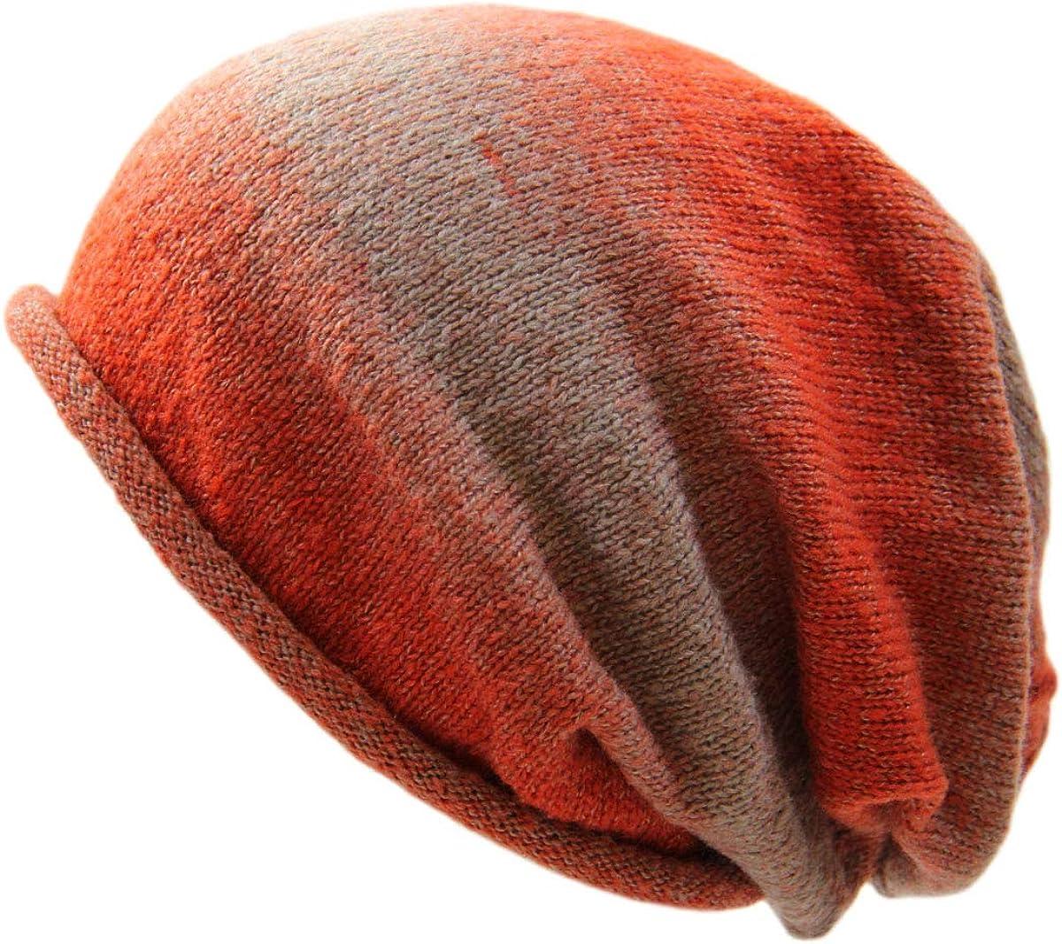 RW Multi Colorful Soft Big Slouchy Beanie Hats