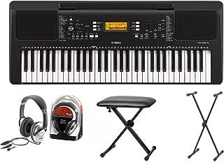 Yamaha 363Keyboard Set IV con soporte, banco, y auriculares