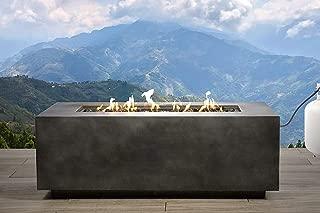 Century Modern Outdoor Fire Pit for Outdoor Home Garden Backyard Fireplace [CM-1025] (Charcol Finish- External Tank)