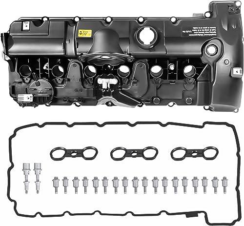 MOSTPLUS 11127552281 Engine Valve Cover For BMW E70 E82 E90 E91 Z4 X3 X5 128i 328i 528i